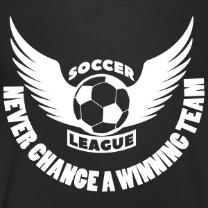 soccer football team never change winning team - Mannen T-shirt met V-hals
