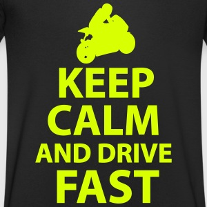 Keep Calm And Drive Fast - Men's V-Neck T-Shirt