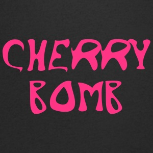 Cherry Bomb Graffiti - T-skjorte med V-utsnitt for menn
