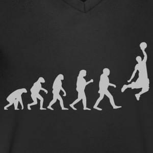 Basketball Evolution - Men's V-Neck T-Shirt