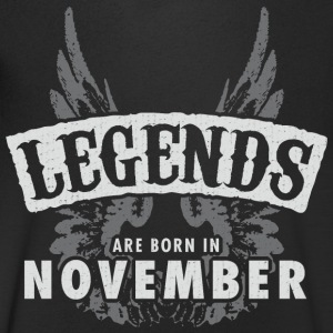 Legends are born in November Wings - Men's Organic V-Neck T-Shirt by Stanley & Stella
