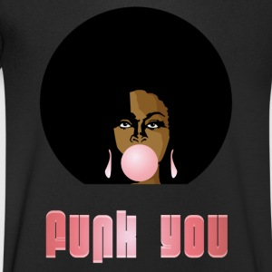 Funk You 70's Retro Bubblegum Afro Queen - Men's Organic V-Neck T-Shirt by Stanley & Stella