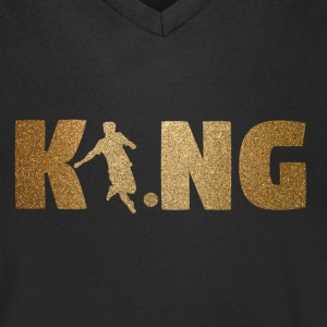 KING Soccer! Soccer! Ball! Present! - Men's V-Neck T-Shirt
