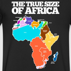 THE TRUE SIZE OF AFRICA - Men's Organic V-Neck T-Shirt by Stanley & Stella
