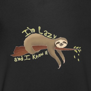 Lazy Sloth I 'm Lazy And I Know It Faultier - Men's V-Neck T-Shirt