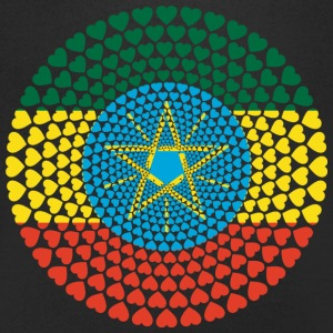 Ethiopia Ethiopia ኢትዮጵያ Love heart mandala - Men's V-Neck T-Shirt