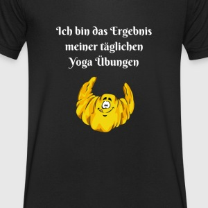 Funny yoga shirt 2 - Men's Organic V-Neck T-Shirt by Stanley & Stella
