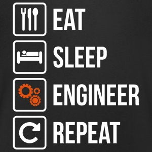 Eat Sleep Engineer Repeat - Men's Organic V-Neck T-Shirt by Stanley & Stella