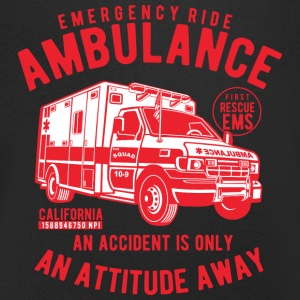 Ambulance Emergency - Men's Organic V-Neck T-Shirt by Stanley & Stella