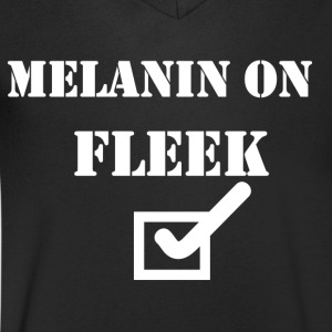 MELANIN ON FLEEK - Men's V-Neck T-Shirt