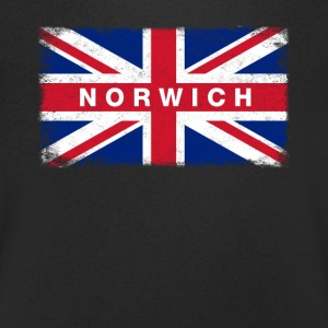 Norwich Shirt Vintage United Kingdom Flag T-Shirt - Men's V-Neck T-Shirt