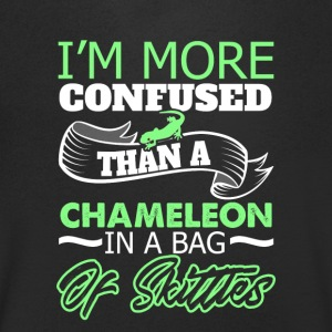 I'm more Confused than a chameleon in a bag - Men's Organic V-Neck T-Shirt by Stanley & Stella