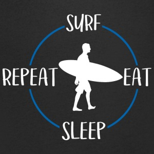 Surf, Eat, Sleep, Repeat - Maglietta da uomo con scollo a V
