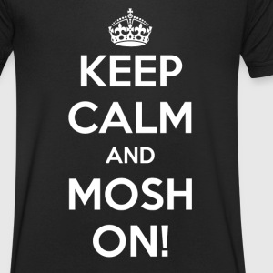 KEEP CALM AND PÅ MOSH! - Herre T-shirt med V-udskæring