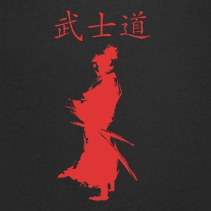 Ronin Bushido Warrior The Way of the Warrior - Men's Organic V-Neck T-Shirt by Stanley & Stella
