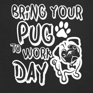 bring your pug to work day - Men's Organic V-Neck T-Shirt by Stanley & Stella