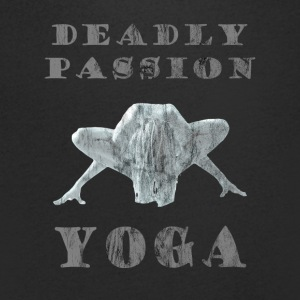 Yoga - Deadly Passion - Design Washed & Worn - Männer T-Shirt mit V-Ausschnitt