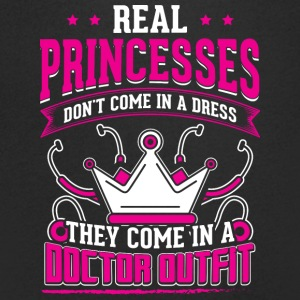 REAL PRINCESSES doctor - Men's Organic V-Neck T-Shirt by Stanley & Stella