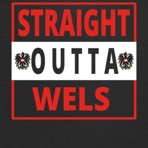 Straight Outta Wels - T-shirt Homme col V