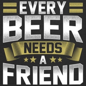 Every Beer Needs A Friend Beer T-Shirt - Men's Organic V-Neck T-Shirt by Stanley & Stella