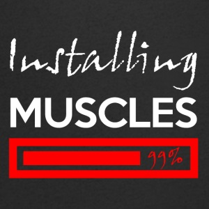 Installation muscles 99% - T-shirt Homme col V