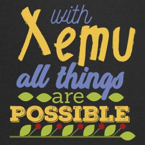 With Xemu All Things are Possible - Men's Organic V-Neck T-Shirt by Stanley & Stella