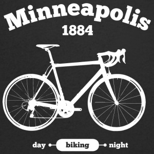 Bicycle Minneapolis - Men's Organic V-Neck T-Shirt by Stanley & Stella