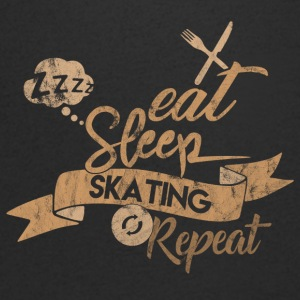 Eat Sleep SKATING GJENTA - T-skjorte med V-utsnitt for menn