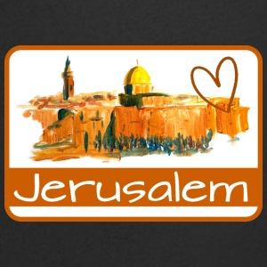 I Like Jerusalem - Men's Organic V-Neck T-Shirt by Stanley & Stella