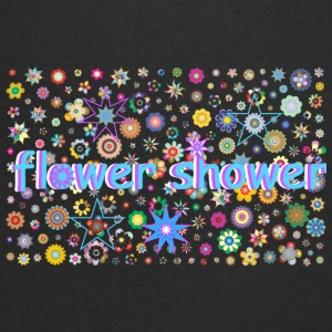 Flower shower - Men's Organic V-Neck T-Shirt by Stanley & Stella