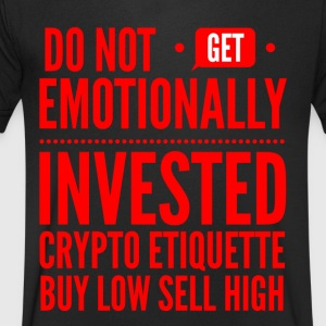 Crypto Invested - Men's Organic V-Neck T-Shirt by Stanley & Stella