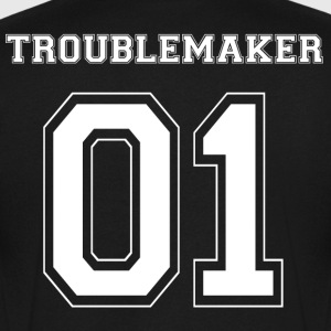 TROUBLEMAKER 01 - White Edition - Men's Organic V-Neck T-Shirt by Stanley & Stella