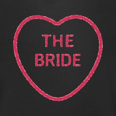 The Bride Loveheart - Men's Organic V-Neck T-Shirt