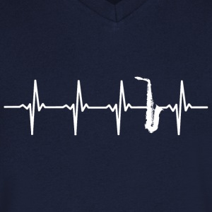 Saxophone - Heartbeat - T-shirt Homme col V