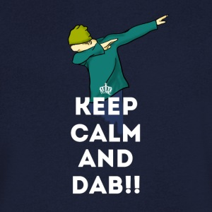 dab keep dabbing touchdown fun cool LOL football - Men's V-Neck T-Shirt