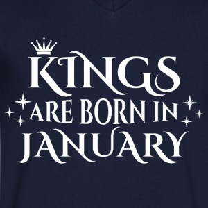 Kings are born in January - Men's Organic V-Neck T-Shirt by Stanley & Stella