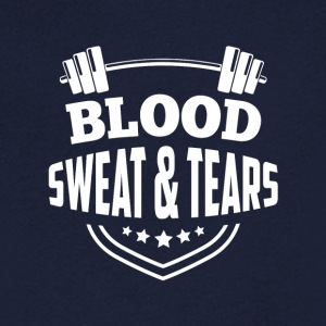 Fitness blood sweat tears - Men's V-Neck T-Shirt