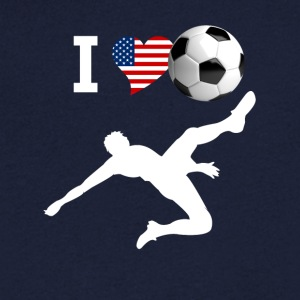 j'aime le football but kick vélo soccer usa LOL f - T-shirt Homme col V