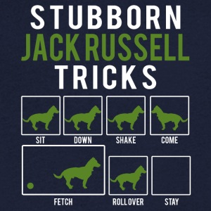 Dog / Jack Russell: Stubborn Jack Russel Tricks - Men's Organic V-Neck T-Shirt by Stanley & Stella
