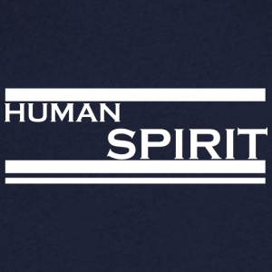 Human Spirit white - Men's Organic V-Neck T-Shirt by Stanley & Stella