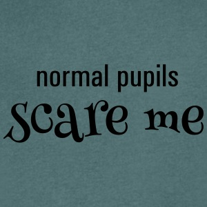 Normal pupils scare me - Men's Organic V-Neck T-Shirt by Stanley & Stella