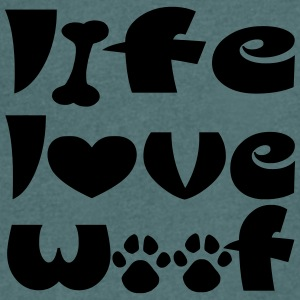 LIFE LOVE WOOF - Men's V-Neck T-Shirt