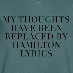 Hamilton The Musical Lyrics - Men's V-Neck T-Shirt