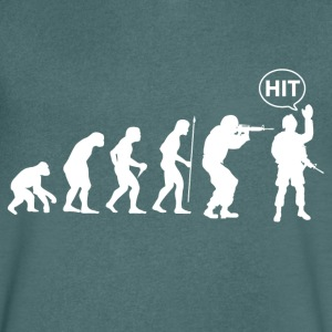 Airsoft evolution - T-shirt med v-ringning herr