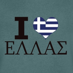 I LOVE GREECE - Men's V-Neck T-Shirt