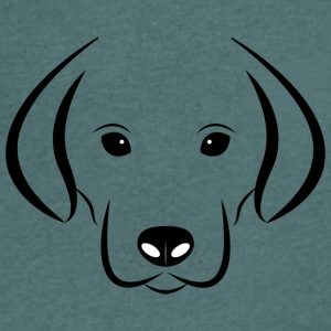 Sweet dog face - Men's Organic V-Neck T-Shirt by Stanley & Stella