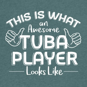 Such a great TUBA looks Players - Men's Organic V-Neck T-Shirt by Stanley & Stella