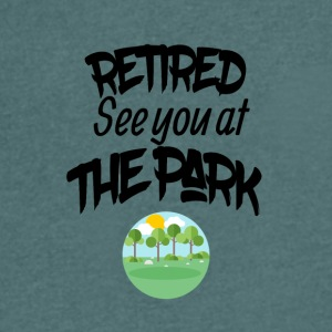 Retired lake you at the park - Men's Organic V-Neck T-Shirt by Stanley & Stella