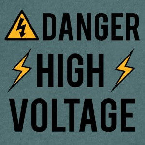 Électricien: Danger! High Voltage! - T-shirt bio col en V Stanley & Stella Homme
