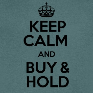 KEEP CALM AND BUY & HOLD - Men's V-Neck T-Shirt